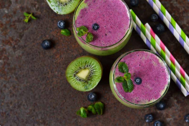 health Story: Purple Kiwi Smoothie recipe