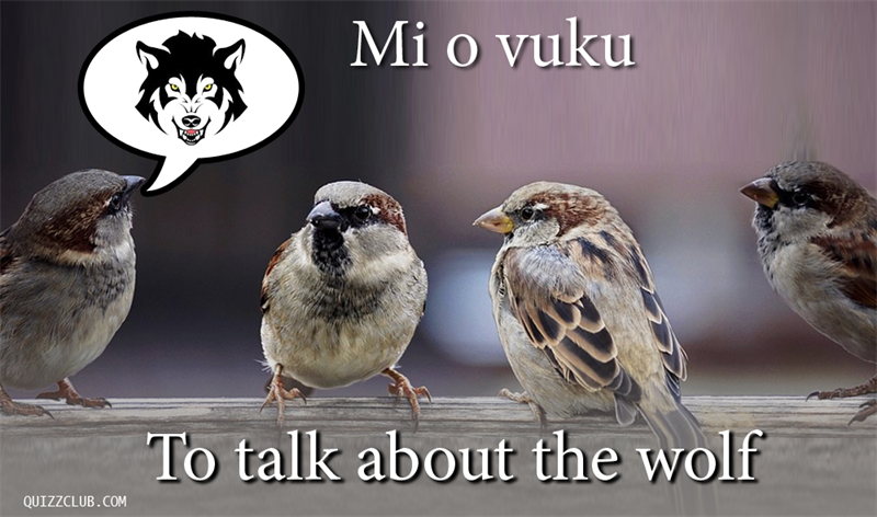 Culture Story: To talk about the wolf