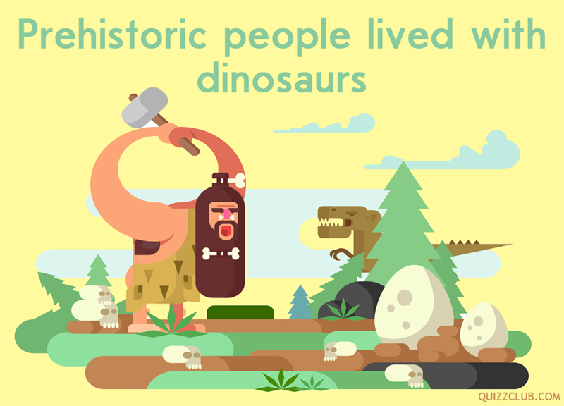 History Story: Prehistoric people lived with dinosaurs