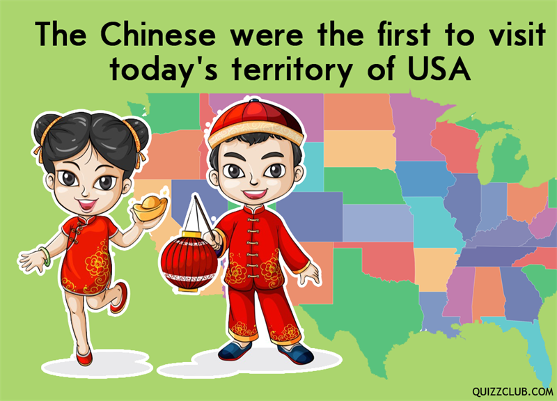 History Story: The Chinese were the first to visit today's territory of USA