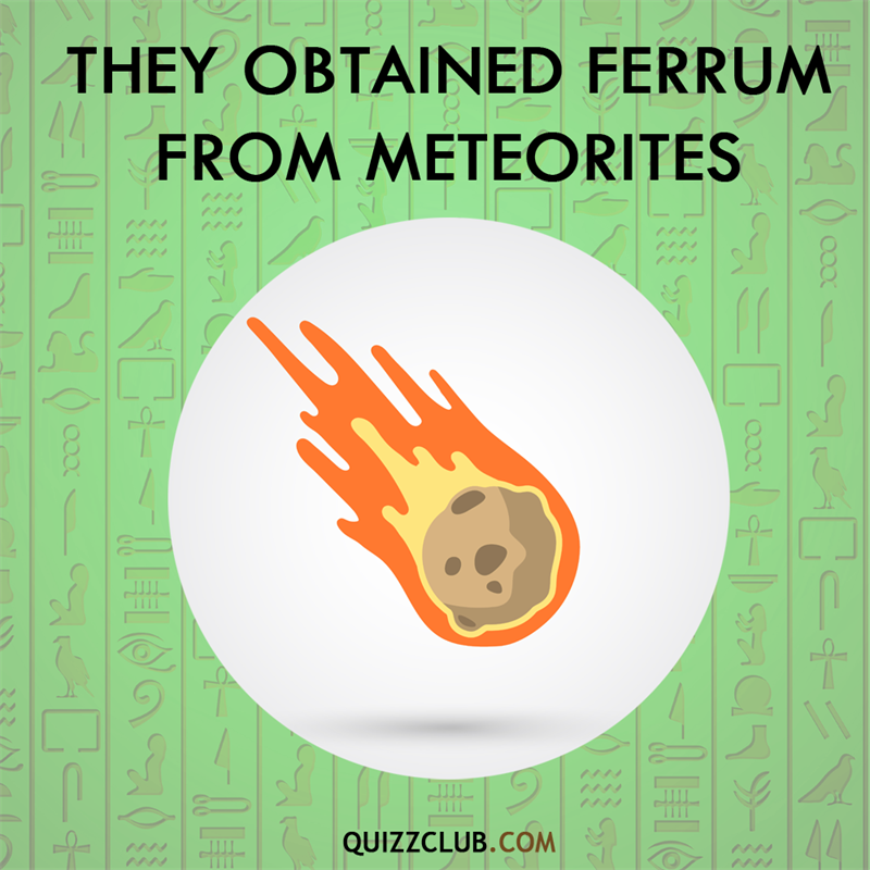 History Story: Ancient Egyptians obtained ferrum from meteorites