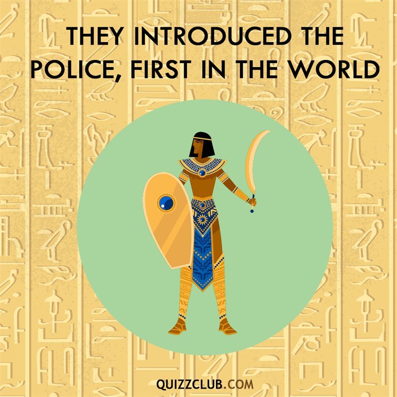 History Story: Ancient Egyptians introduced the police, first in the world
