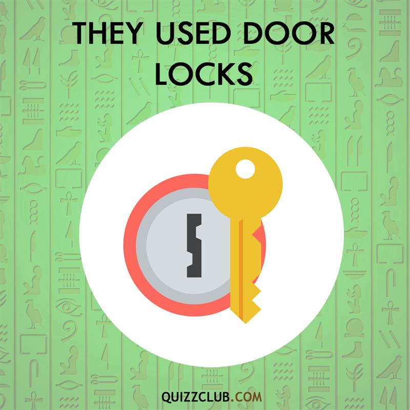 History Story: Ancient Egyptians used door locks