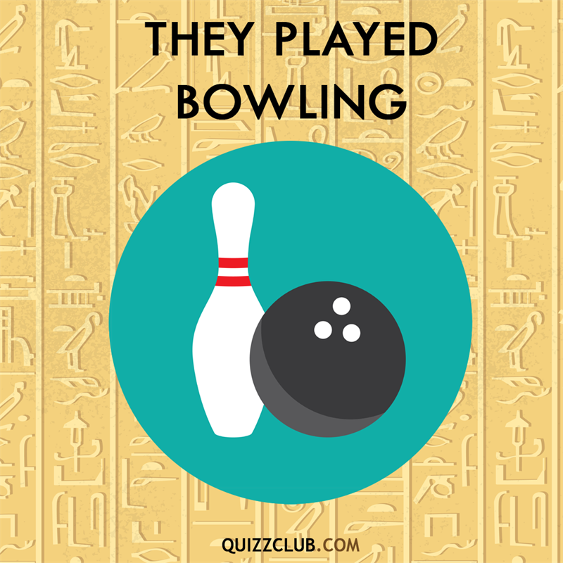 History Story: Ancient Egyptians played bowling