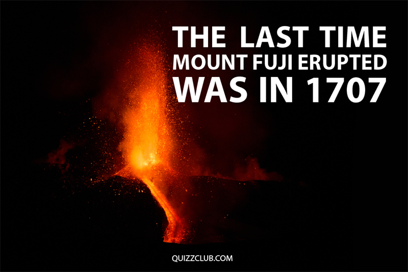 Geography Story: The last time Mount Fuji erupted was in 1707