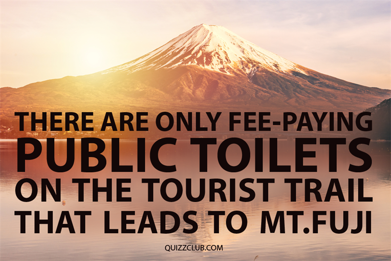 Geography Story: There are only fee-paying public toilets in Japan on the tourist trail that leads to Mt. Fuji
