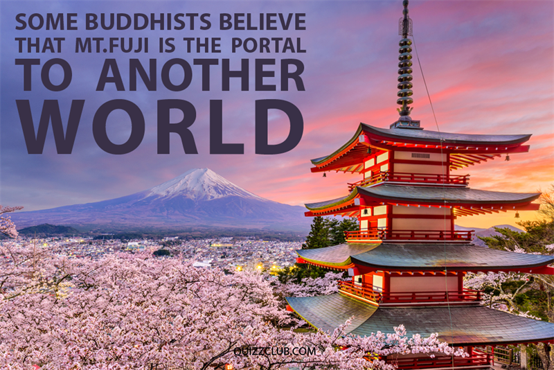 Geography Story: Some Buddhists believe that Mt. Fuji is the portal to another world.