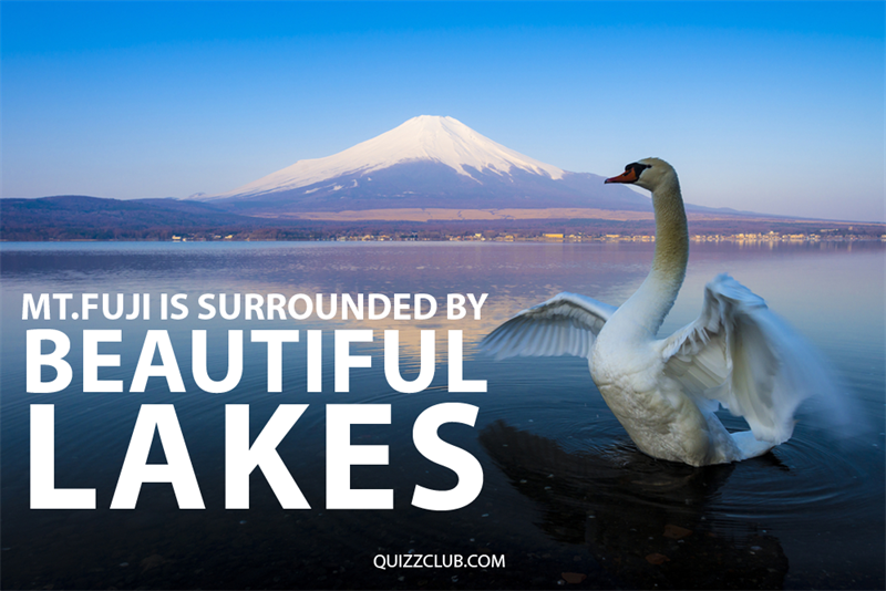 Geography Story: Mt.Fuji is surrounded by beautiful lakes