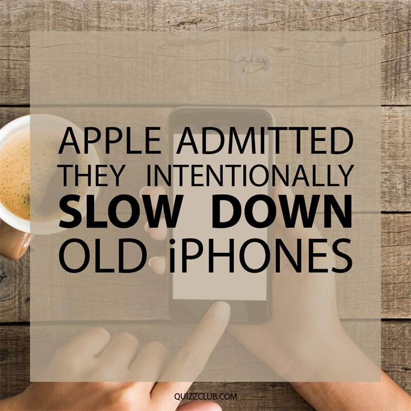 Society Story: Apple admitted they intentionally slow down old iPhones.