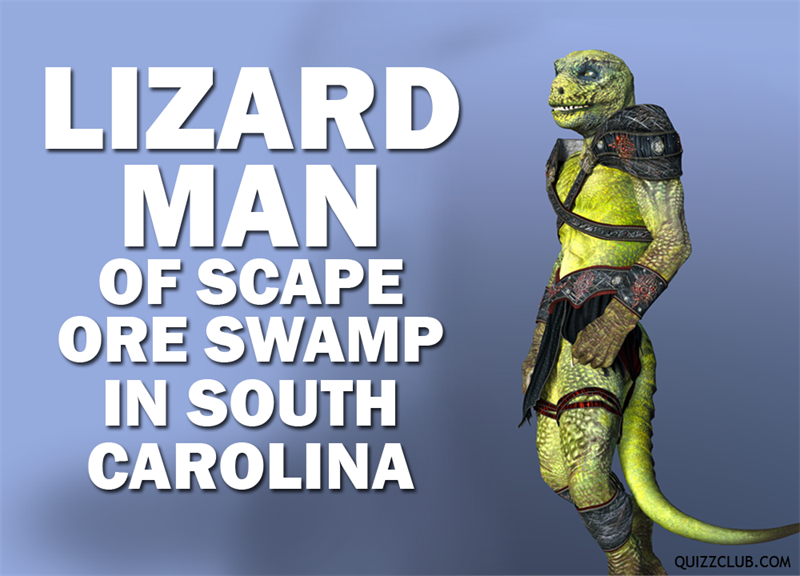 History Story: Lizard Man of Scape Ore Swamp in South Carolina