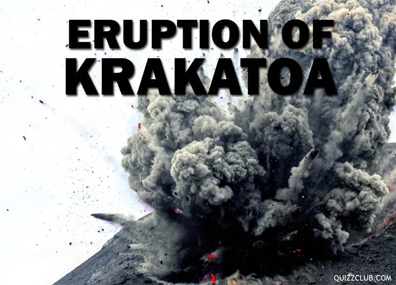 History Story: Eruption of Krakatoa