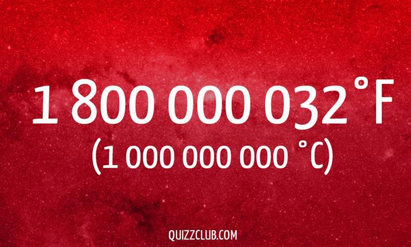 Nature Story: 1 800 000 032°F (1 000 000 000 °C)
