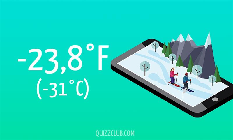 Nature Story: -23,8°F (-31°C)