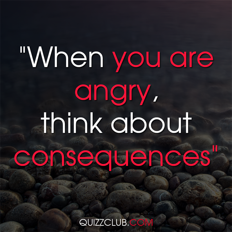 """Culture Story: """"When you are angry, think about consequences"""""""