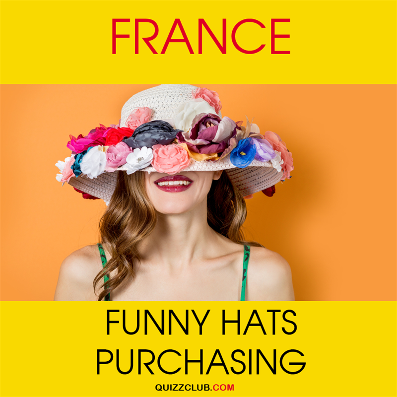Geography Story: France: Funny hats purchasing