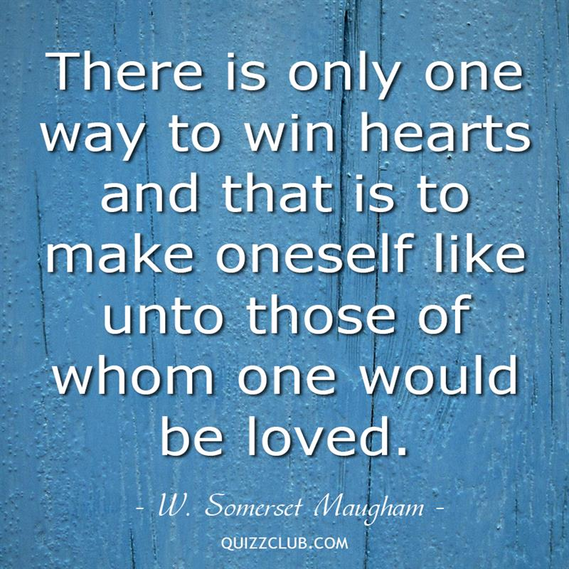 Culture Story: There is only one way to win hearts and that is to make oneself like unto those of whom one would be loved