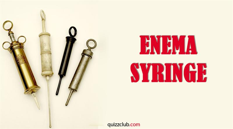 History Story: Enema syringe