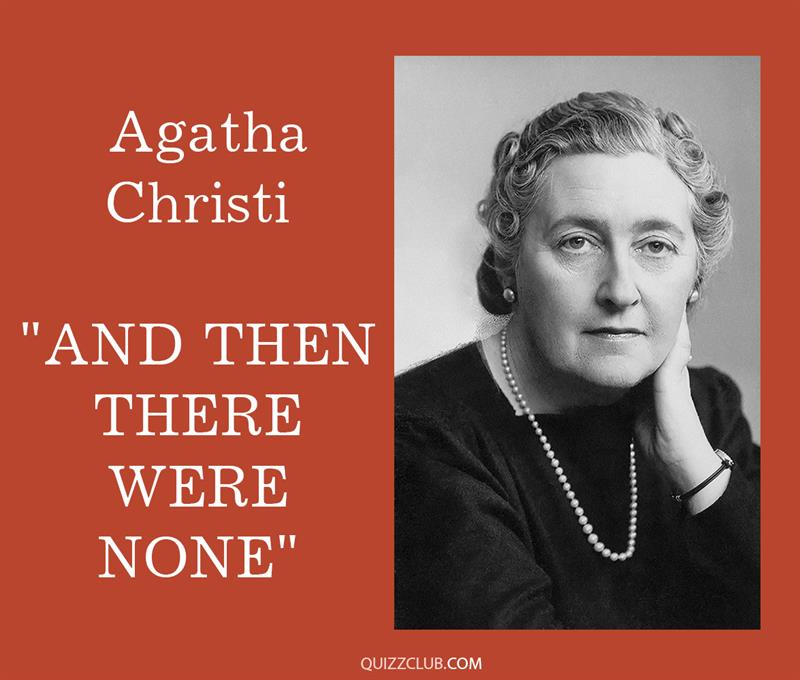 """Culture Story: 6. Agatha Christi """"And Then There Were None"""""""