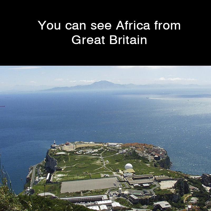 Geography Story: You can see Africa from Great Britain
