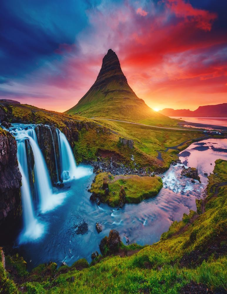 Geography Story: #14 Volcano and a river, Iceland