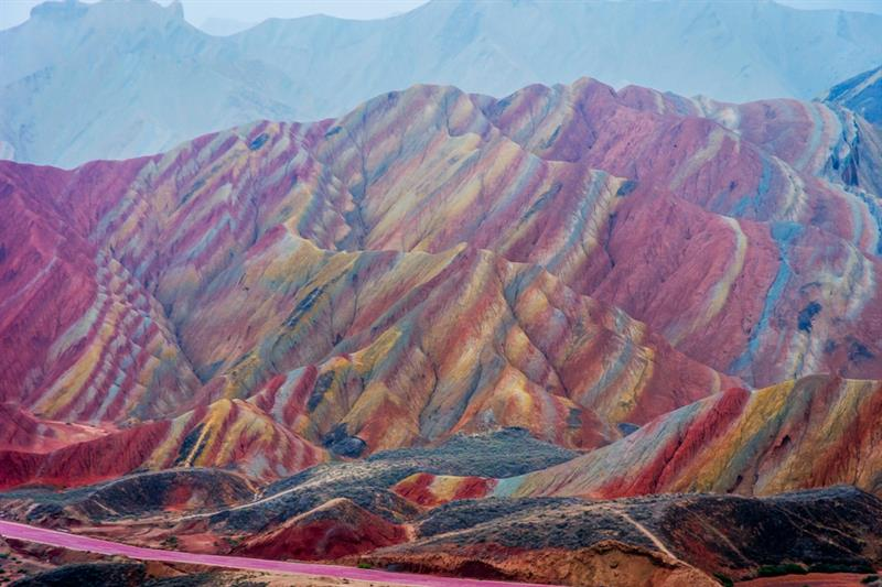 Geography Story: #9 Zhangye Danxia Colorful Rocks, China.