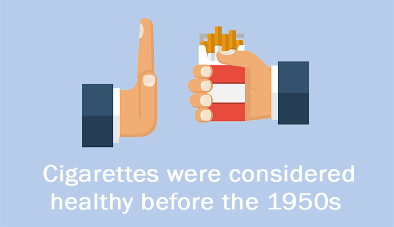 Culture Story: Cigarettes were considered healthy before the 1950s.