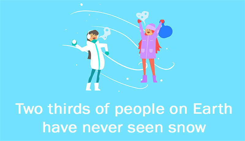 Culture Story: Two thirds of people on Earth have never seen snow.