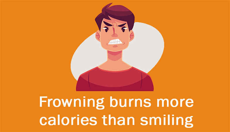 Culture Story: Frowning burns more calories than smiling