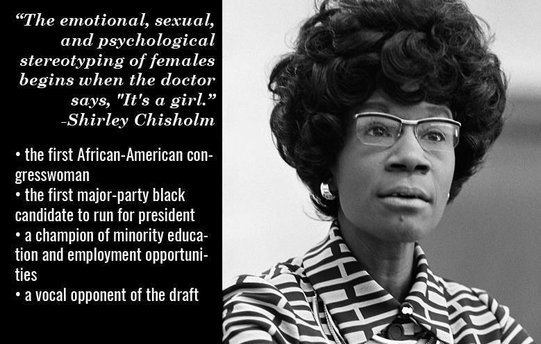 History Story: #1 Shirley Chisholm
