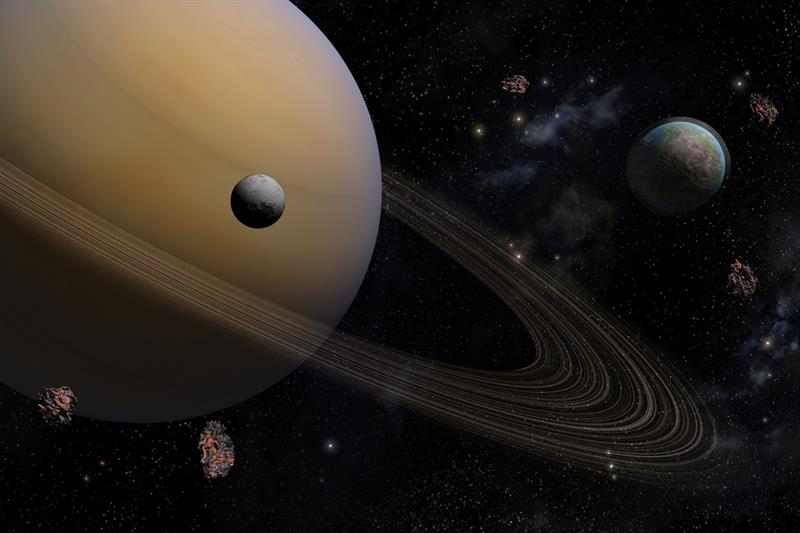Geography Story: #6 Rings and satellites of Saturn are younger than dinosaurs