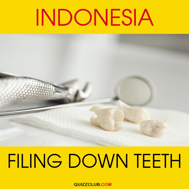 Geography Story: Indonesia. Filing down teeth