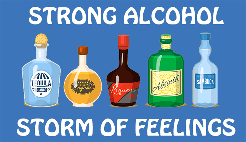 Science Story: Strong alcohol = Storm of feelings