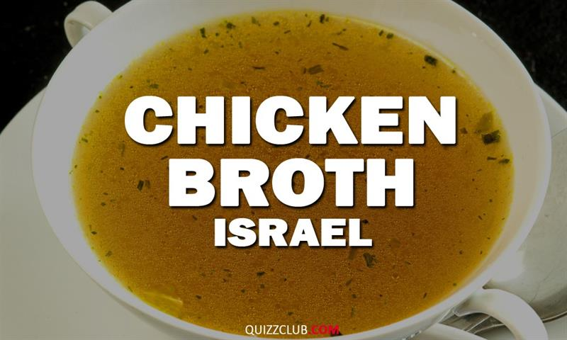 Geography Story: Chicken broth (Israel)