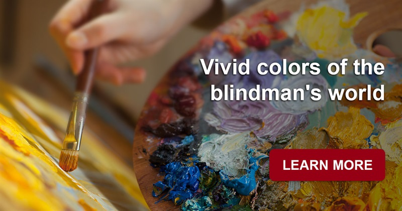 Culture Story: What do paintings of a blind artist look like?