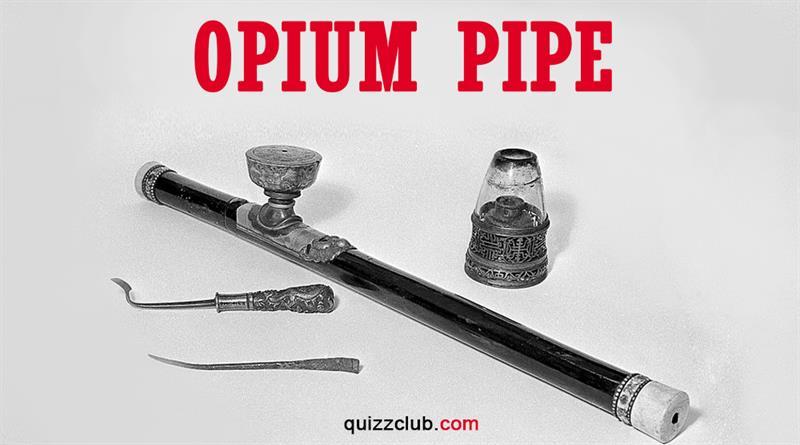 History Story: Opium pipe