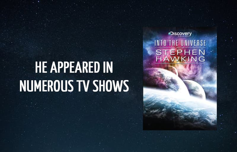 Science Story: He appeared in numerous TV shows