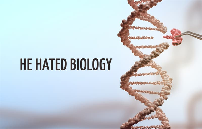 Science Story: He hated biology