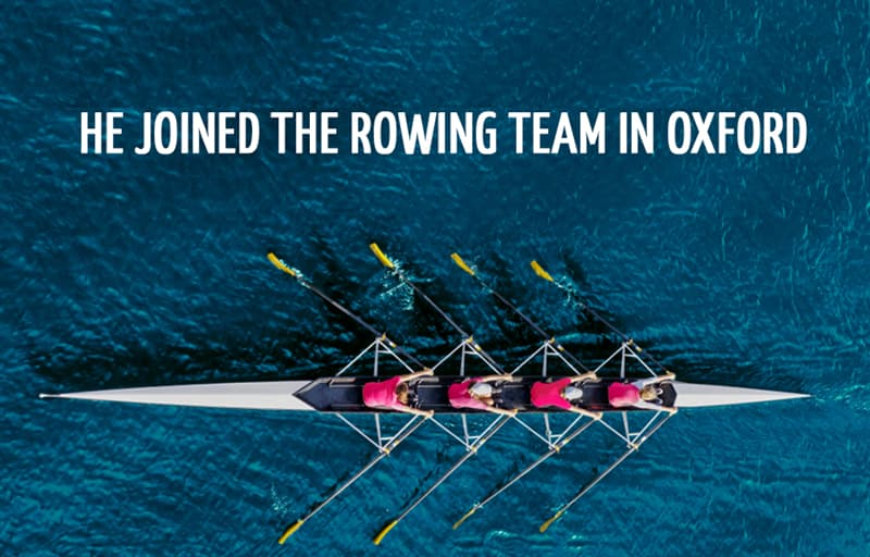Science Story: He joined the rowing team in Oxford