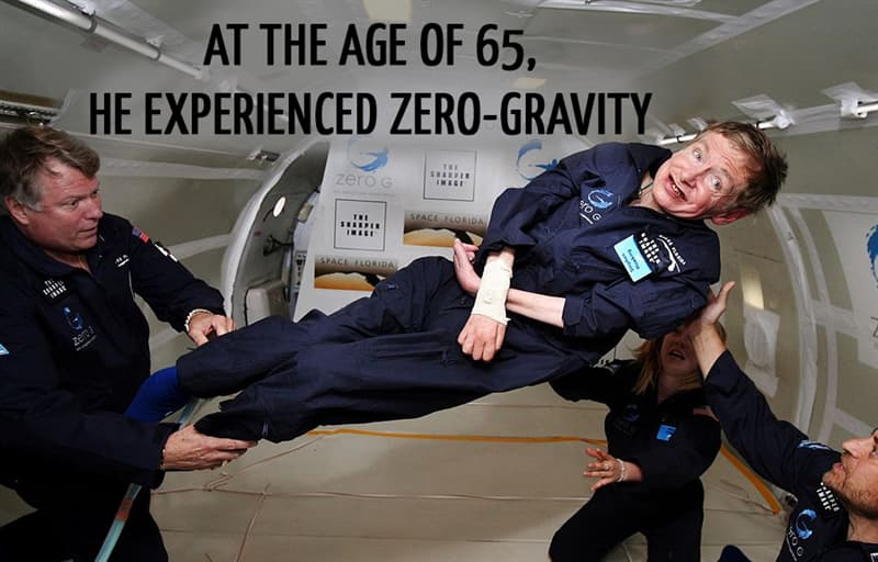 Science Story: At the age of 65, he experienced zero-gravity