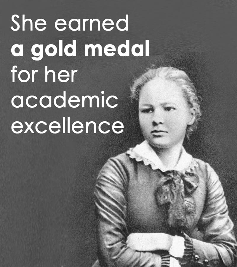 Science Story: She earned a gold medal for her academic excellence
