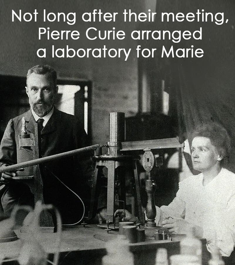Science Story: Not long after their meeting, Pierre Curie arranged a laboratory for Marie