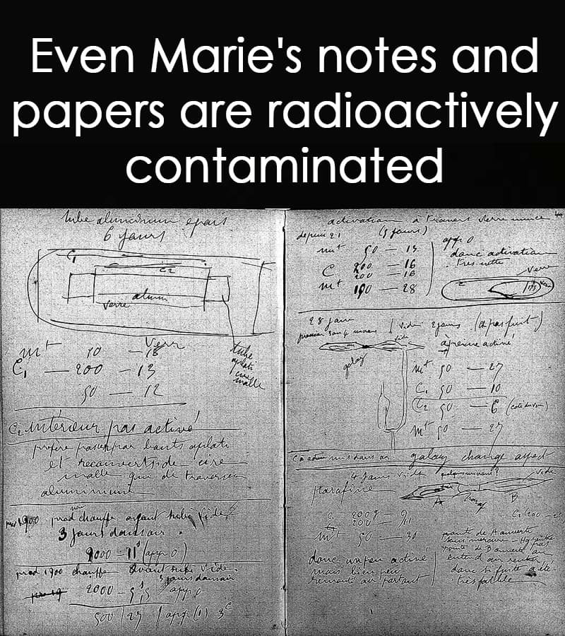 Science Story: Even Marie's notes and papers are radioactively contaminated