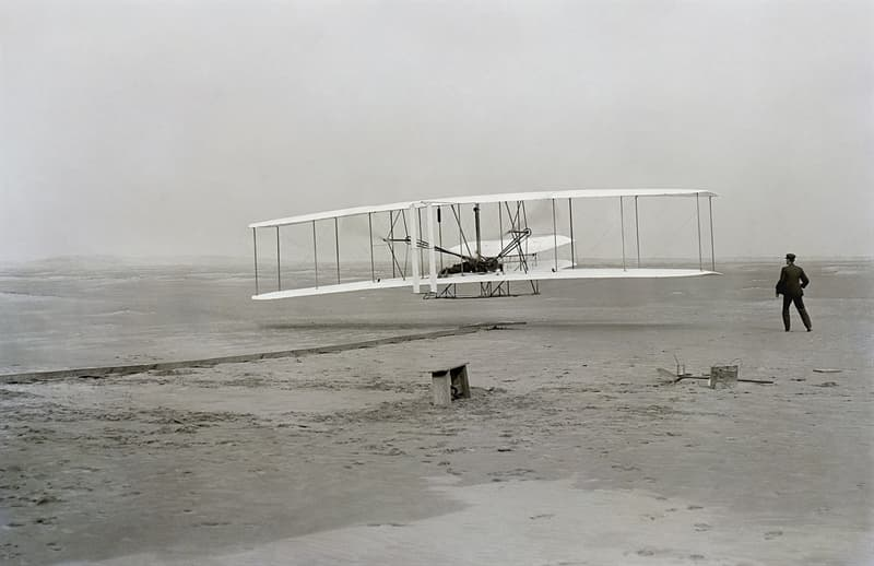 History Story: #6 The first airplane flight which lasted 12 seconds, covering 120 feet (1903)