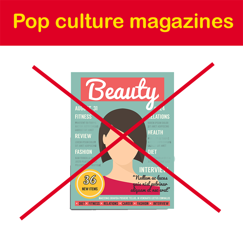 Geography Story: Pop culture magazines