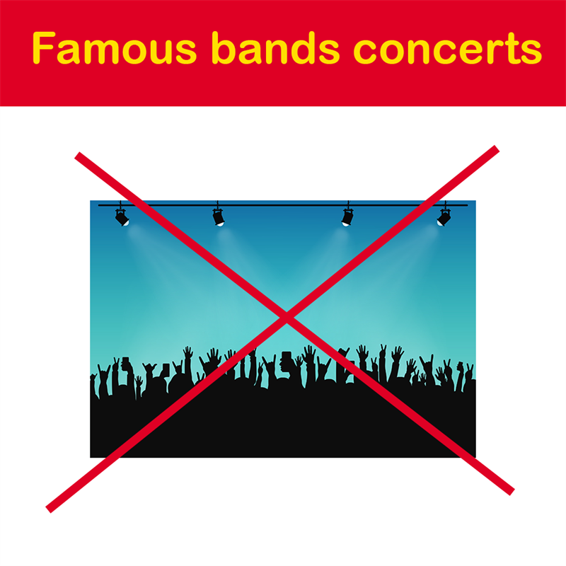 Geography Story: Famous bands concerts
