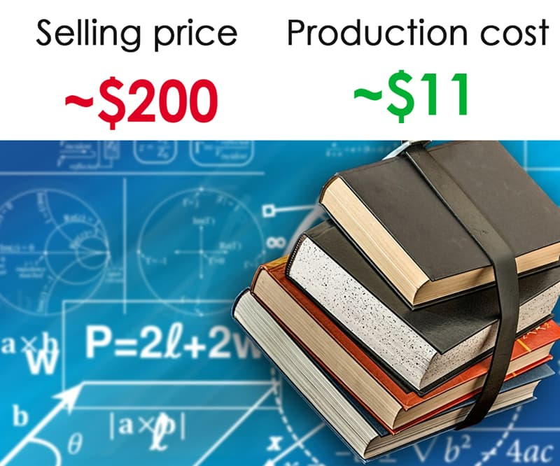 Society Story: #3 College textbooks: