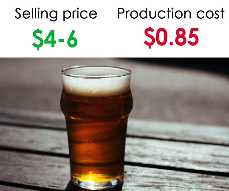 Society Story: #9 A pint of beer at a bar: