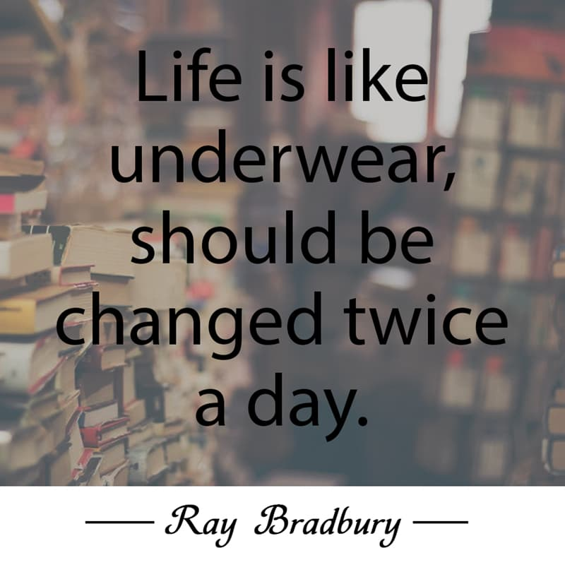 Culture Story: Life is like underwear, should be changed twice a day.