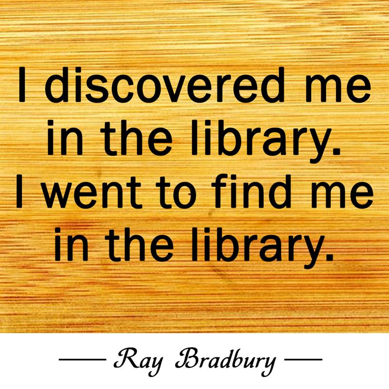 Culture Story: I discovered me in the library. I went to find me in the library.