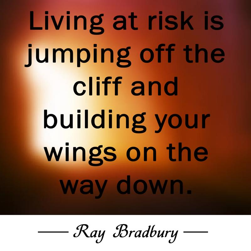 Culture Story: Living at risk is jumping off the cliff and building your wings on the way down.